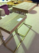Miavilla Beistelltisch Set Corio 2 tlg Holz Metall Neu