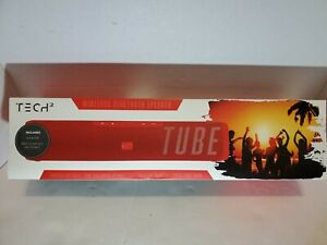Tech 2 Tube Wireless Bluetooth Red Speaker NEW Sealed Party Mode 5+ Hours