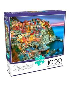 1000 Piece Jigsaw Puzzle Buffalo Signature Coll. 26 x 19 CONQUE TERRE ITALY