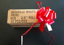 50 Pull Bows Red 2.5 inch Butterfly Bow