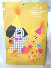 "Hallmark Gingham Dog and Calico Cat Centerpiece Complete In Package 14"" Vintage"