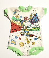 Vtg Baby Snoopy Shirt 12 Months 1958 Preowned Snap Closure