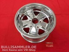 Fuchs -Replika- Felge poliert 8x15 5x130 -MIT TÜV- VW Käfer, Bus T1 T2 (-007)