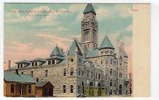 CENTRAL FIRE STATION AND CITY HALL, WICHITA: Kansas USA postcard (C11838)