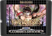 King Colossus (1992) 16 Bit Game Card For Sega Genesis / Mega Drive System