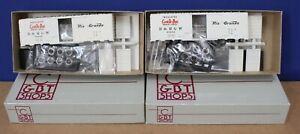 Lot o 2 C&BT Shops HO-0002C HO D&RGW Cookie Box 1944 AAR 40' Boxcar Kits diff #s