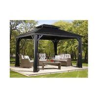 Sojag Messina 10 x 12 Galvanized-Steel-Roof Sun Shelter Mosquito Netting