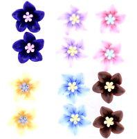Super cute bundle. 6 pairs of mixed colour flower stud earrings