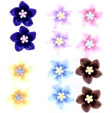 SUPER Carino Bundle. 6 paia di Colore Misto Orecchini a Perno Fiore
