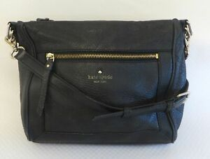 Kate Spade New York Black Pebble Leather Crossbody Purse