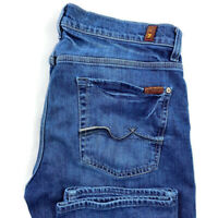 7 For All Mankind Mens 34X33 Slimmy Medium Wash Blue Slim Straight Jeans