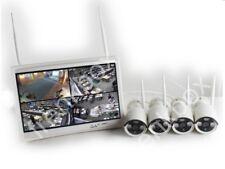 "Kit videosorveglianza DVR Monitor 12"" 4 canali telecamere IP senza fili WIFI APP"