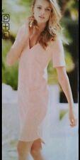 BNWT🌹Next 🌹Size 12 Petite Blush Peach Shift Beaded Dress New RRP £68