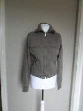 Womens ZARA jacket, size L (12-14), brown, long sleeve, zipped