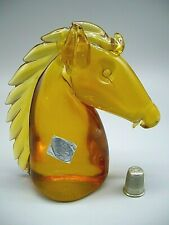 original label Murano Archimede Seguso vintage glass horse head sculpture