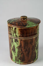 Antique Art Nouveau lidded tobacco pot/ tea caddy