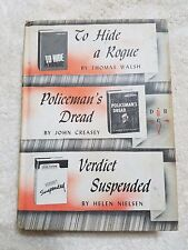 DETECTIVE BOOK CLUB: To Hide a Rogue, Policeman's Dread, Verdict Suspended