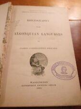 Pilling, J.C.: Bibliography of the Algonquian languages.