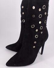 Missguided Eyelet Stud Sock Ankle Boot- Black UK 5 EU 38 NH08 56