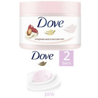 New Exfoliating Body Scrub Pomegranate and Shea Butter and Dove Pink Beauty Bar