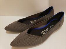 Rothys size 7 gray pointy toe womens flats