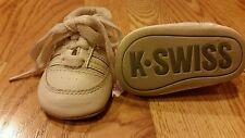K- Swiss Baby Boys or Girls Crib Shoes Sneakers Size 1 Infants White Adorable