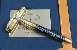"""Parker Duofold fountain pen, """"The Craft of Travelling"""", F size, 18k nib"""