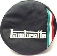 Copriruota in similpelle cover wheel Lambretta LI 1 2 3 SERIE TV con tricolore