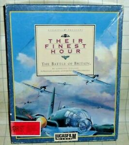 Their Finest Hour The Battle of Britain Atari PC Game CIB Tested - Lucasfilm