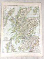 1898 Ancien Carte de Écosse Écossais Highlands Orkney 19th Siècle Victorien