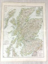 1898 Antique Map of Scotland Scottish Highlands Orkney 19th Century Victorian