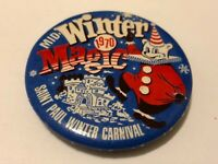 Vintage 1970 St. Paul Winter Carnival Pinback Button Winter Magic