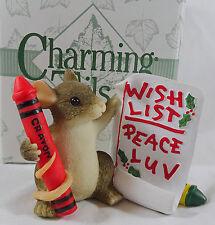 Charming Tails Figurine Mackenzie's Wish List  Christmas