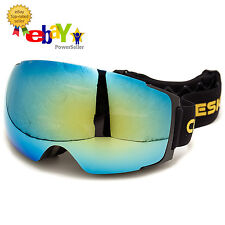 DELUXE Ski Goggles, Balaclava Set By Cozia Design, Extra NIGHT Lens, Carry Pouch