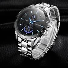 Fashion Men's Stainless Steel Military Waterproof Army Analog Quartz Wrist Watch