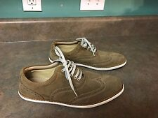 Men's BASIC ZARA MAN Khaki Suede Sneakers Shoes Size EU 40