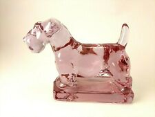 HCA Lavender Ice Scotty Dog Pup by Dalzell Viking Heisey Mold Scottish Terrier