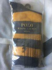 Chaussettes Ralph Lauren - Neuves avec étiquette - Rayées jaune et bleu foncé