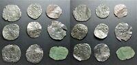 Lot de monnaies royales/féodales en billon à déterminer, B à TB