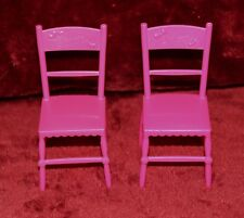 2 Barbie Doll Sister Birthday Party Chelsea Stacie Pink Chairs W NAME furniture