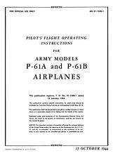 NORTHROP P-61A & B BLACK WIDOW  - PFOI  AN 01-15FB-1