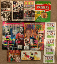 Spice Girl Fan Lot - RARE ITEMS -VHS, CD, CHIPS, STICKERS, MAGAZINE, PENCIL CASE
