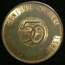 1954 GENERAL MOTORS BUILDS 1ST 50 MILLION CARS TOKEN COIN MEDAL BODY BY FISHER