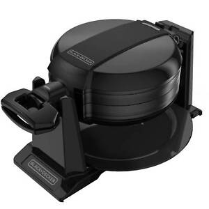 Double Flip Waffle Maker Rotate And Cook System Nonstick Plates BLACK+DECKER NEW