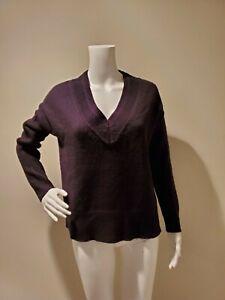 NWT Madewell V-Neck Side Slit Sweater Black XS