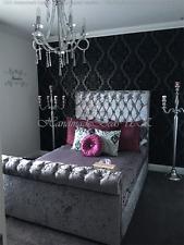 "Sleigh Unique Chesterfield Bed Frame 48/60"" (122/152CM) High Headboard"