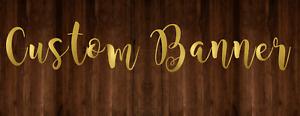 Custom Name Backdrop Gold Mirror Lettering Backdrop Custom Banner