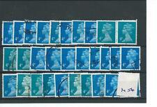 MACHIN DEFINITIVES - MA06- 4p - BLUE - 30  COPIES - USED