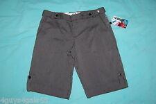 JR Womens Dress Shorts BLACK GRAY THIN STRIPE Tailored Pockets CUFFED LEG Size 9
