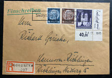 1940 Skolynzyn GG Germany Registered  Cover To Hannover